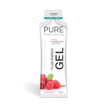 Pure Sports Nutrition Fluid Energy Gel - 50g - Raspberry + Caffeine