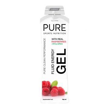 Pure Sports Nutrition Fluid Energy Gel - Raspberry + Caffeine