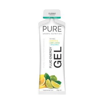 Pure Sports Nutrition Fluid Energy Gel - Lemon Lime + Caffeine