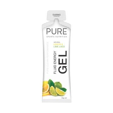 Pure Sports Nutrition Fluid Energy Gel - Lemon Lime