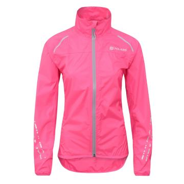 Polaris Bikewear Women's Strata Jacket - Fluro Pink Light Grey