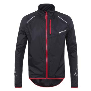 Polaris Bikewear Men's Strata Waterproof Jacket - Black/Red