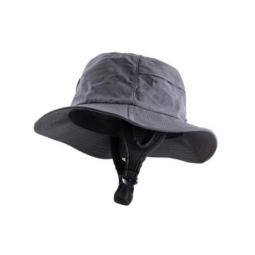 Ocean and Earth Youth Bingin Soft Peak Surf Hat - Black