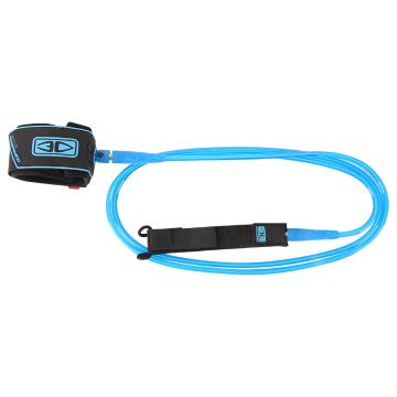 Ocean and Earth 7ft Regular Moulded Leash  - Blue