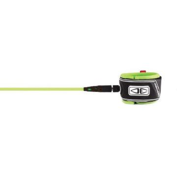 Ocean and Earth Regular 7ft Moulded Leash - Lime