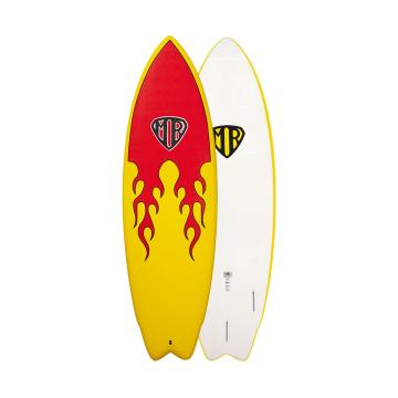 Ocean and Earth Mark Richards Epoxy Soft Twin Fin Softboard 6ft - Flame