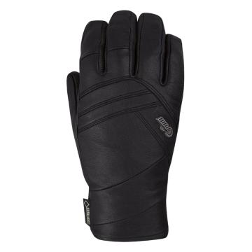 POW 2018 Women's Stealth Leather Gore-Tex Snow Gloves - Black