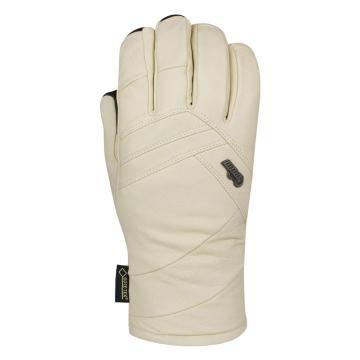 POW 2018 Women's Stealth Leather Gore-Tex Snow Gloves - Angora