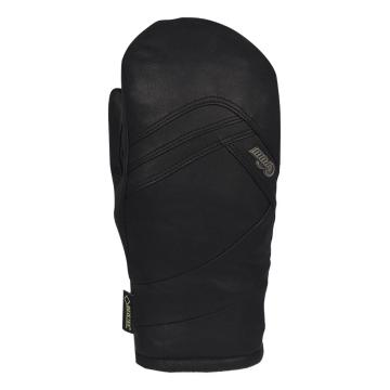 POW Women's Stealth Leather Snow Mittens - Black