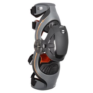 POD MX K1 Youth Knee Brace - Right - Grey/Orange