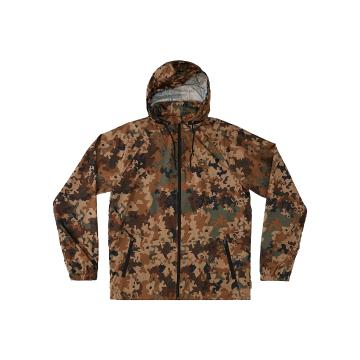Quiksilver Men's Shell Shock Jacket - Dull Gold Outdoor Camo