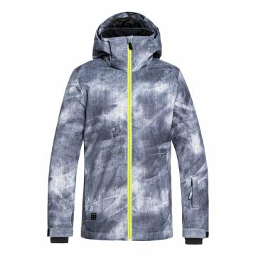 Quiksilver   Mission Printed Youth Jacket - Grey_SimpleTexture