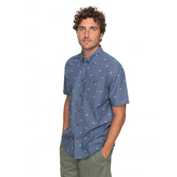 Quiksilver Men's Poste Fishery Short Sleeve Shirt - Waterman Collection