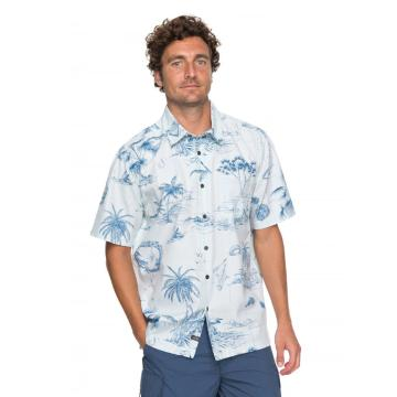 Quiksilver Men's Koolin Map Short Sleeve Shirt - Waterman Collection