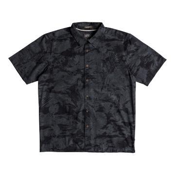 Quiksilver Mens Japanese Oceans Short Sleeve Shirt - Black