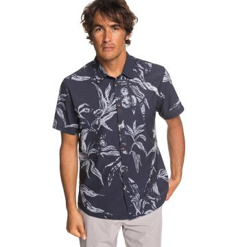 Quiksilver Mens Tech Beachrider SS Shirt - Parisian Night