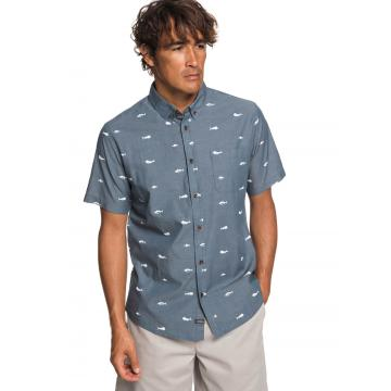 Quiksilver Mens Spun Reel SS Shirt - Orion Blue
