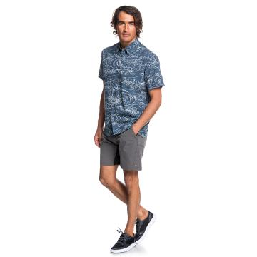 Quiksilver Mens Wind and Waves SS Shirt - Orion Blue