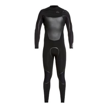 Quiksilver Men's 5/4/3 Syncro Chest Zip Wetsuit - Blk/Blk/JtBlk