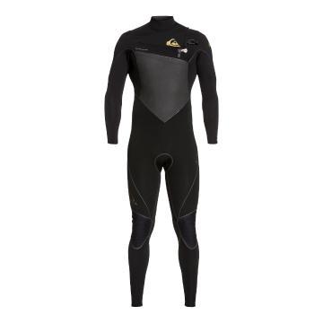 Quiksilver Men's 4/3 Highline Chest Zip Wetsuit - Black