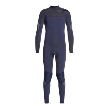 Quiksilver 2021 Youth 3/2 Syncro Boy Chest Zip GBS - Black/Navy  - Black/Navy