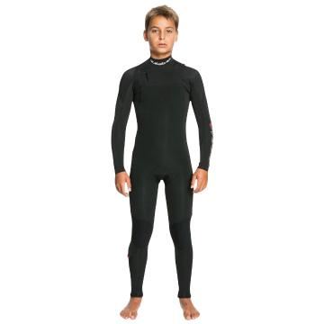 Quiksilver 2022 Youth 3/2 Everyday Sessions Mikey Chest Zip Wetsuit - Black