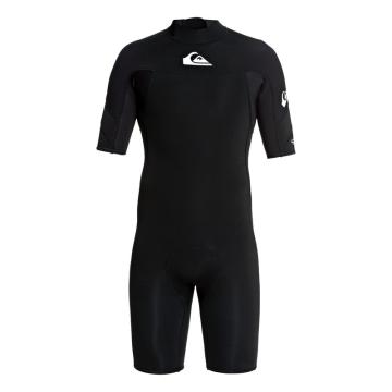 Quiksilver Men's 2/2 Syncro Short Sleeve Back Zip FLT Springsuit - Black/White