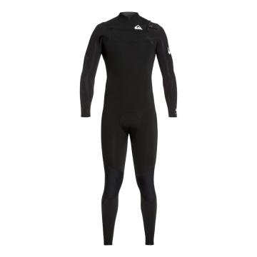 Quiksilver Men's 3/2 Syncro Chest Zip GBS Wetsuit - Black/White
