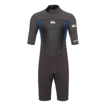 Quiksilver Boys 3/2 Prologue Short Sleeve Springsuit - Jet Black/Nite Blue