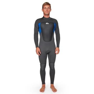 Quiksilver Men's 3/2 Prologue Back Zip FLT - Jet Black/Nite Blue