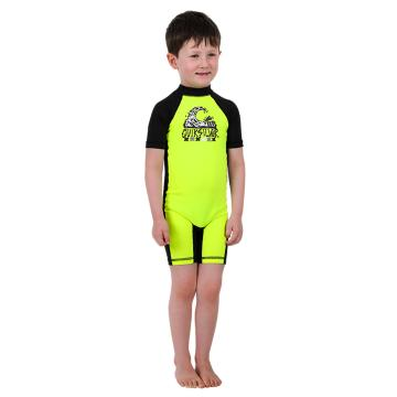 Quiksilver Kid's Bubble Rash Suit - Safety Yellow/Black