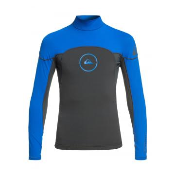 Quiksilver Boys 1.0mm Syncro Wetsuit Jacket - Graphite/Black/Deep