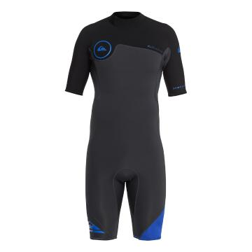 Quiksilver Men's 2/2mm Syncro BZ Short Sleeve Spring Suit - Graphite/Black/Deep
