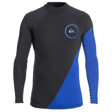 Quiksilver Mens 1.0mm Syncro Series Long Sleeve Neoprene Surf Top - Graphite/Black/Deep
