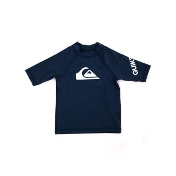 Quiksilver 2021 Youth All Time Short Sleeve Rash Vest - Navy