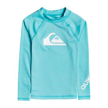 Quiksilver 2021 Youth All Time Long Sleeve Rash Vest - Pacific Blue