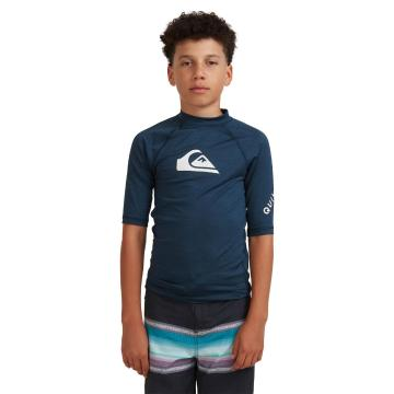 Quiksilver 2022 Youth All Time Short Sleeve - Navy Blazer Heather