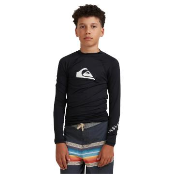 Quiksilver 2022 Youth All Time Long Sleeve Rash Vest - Black