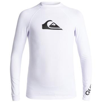 Quiksilver Boy's All Time Long Sleeve Rash Top - White