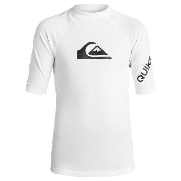 Quiksilver Boy's All Time Short Sleeve Rash Top - White