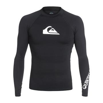 Quiksilver Mens All Time Long Sleeve Rash Top - Black