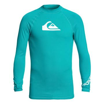 Quiksilver Mens All Time Long Sleeve Rash Top - Typhoon