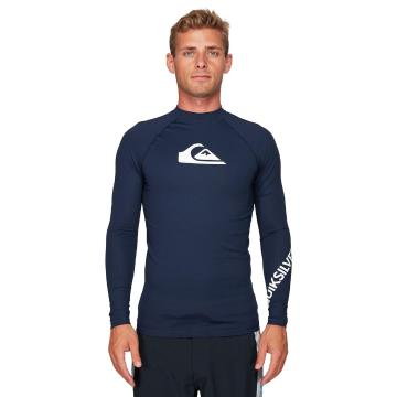 Quiksilver Men's All Time Long Sleeve Rash Top - Navy Blazer