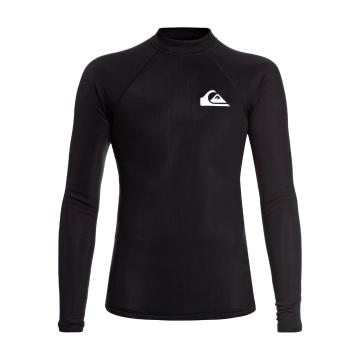 Quiksilver 2018 Boys Heater Boy Long Sleeve Rash Shirt - Black