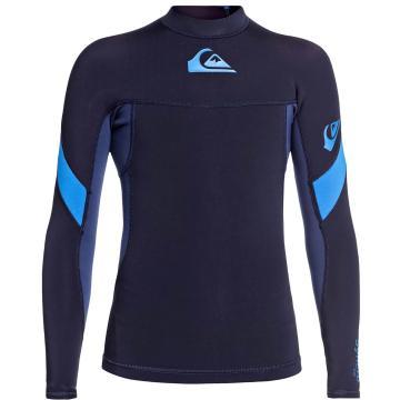 Quiksilver Boys 1.0 Syncro Long Sleeve Jacket - Dark Navy/Iodine Blue