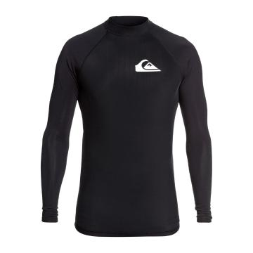 Quiksilver Men's Heater Long Sleeve Rash Vest - Black