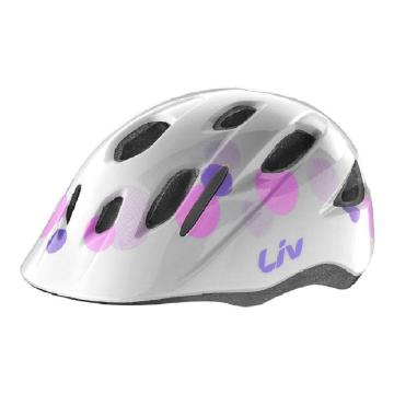 Liv Musa Kids Helmet - Gloss Bubble White