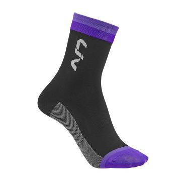 Liv Race Day Socks - Black/Purple