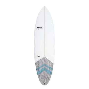 RSC 6.4 D3 Shortboard - White/Blue