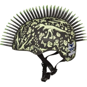 Raskullz T-Rex Bonz Mohawk Toddler Helmet - Black 48-52cm - Black